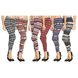 Cotton and Lycra Churidar Ladies Printed Legging