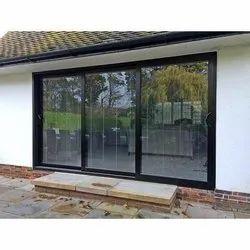 Glass Black UPVC Sliding Door, For Home