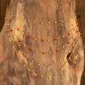 Women Brass Antique Gold Plated Side Kamar Patta 202002, Size: Length = 30 Inch