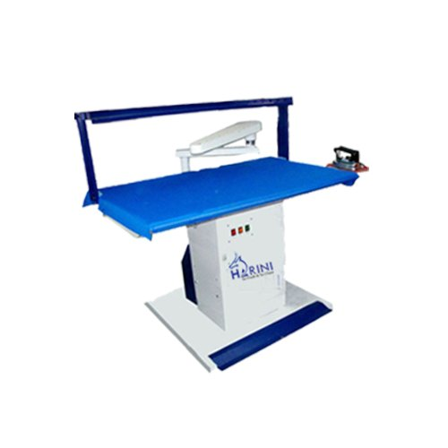 Ss White & Blue Vacuum Iron Table, For Laundry