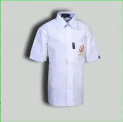 White School Girsl Half Sleeve Shirt