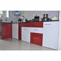 L Shape PVC Kitchen Cupboard