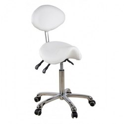 Saddle Stool with Back Rest