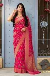 Imperial Silk Embroidered Party Wear Saree