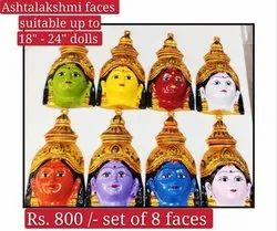 Ashtalakshmi Face GOLU  Doll