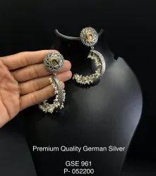 Antique Crescent Earrings