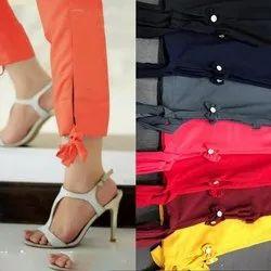 Rayon Plain Ladies Bottom Bow Knot Pants, Size: M-xxl