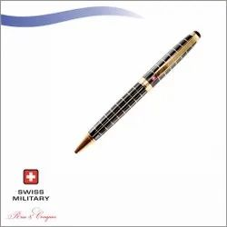 Swiss Military Dimond Cut Check Pattern Ball Pen (BP 17)