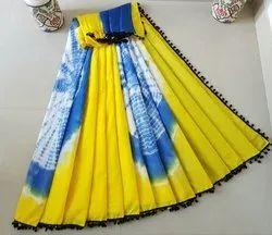 Chiffon Party Wear Dye and Tie-Saree