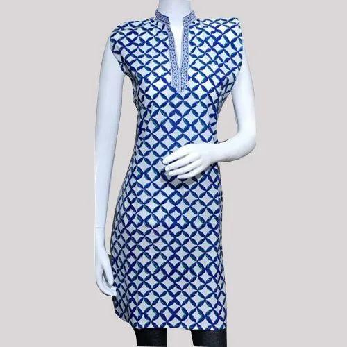 Ladies Cotton Stitched Kurti, Size: XL