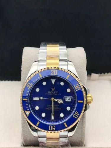 Men Blue Colour Formal Wrist Watch