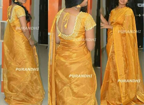 8dd89d12bf Gold And Silver Siva Sri Handlooms Uppada Tissue Sarees, Hand Made ...