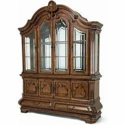 Royal Brown Home Wooden Display Cabinet