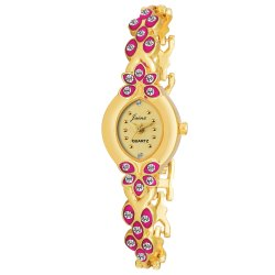 Women Golden Bracelet  Wrist Watch