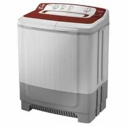 Samsung 8 kg Semi Automatic Top Load Washing Machine, WT80M4000HR/TL, Light Grey & Red