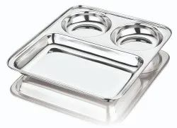3 In 1 Rectangular Thali
