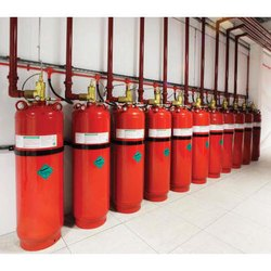 Mild Steel A B C Dry Powder Type Novec 1230 Fire Suppression System, For Industrial