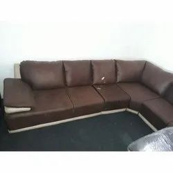 Herlich Planet Leather L Shaped Sofa Set