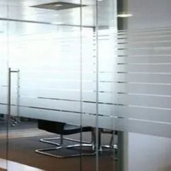 Transparent Frosted Lining Partition Glass, Thickness: 4 Mm