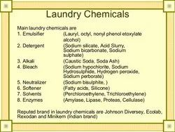 ECO FRIENDLY LAUNDRY CHEMICALS, Grade: Chemical Grade