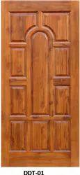 Polished Exterior DDT-01 Teak Wood Doors for Home