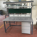 Mild Steel Green-white Antistatic Table, For Laboratory