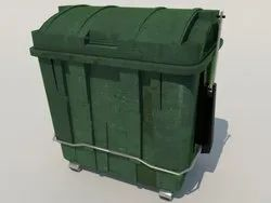 1100 Liter Flat Top Waste Dustbin
