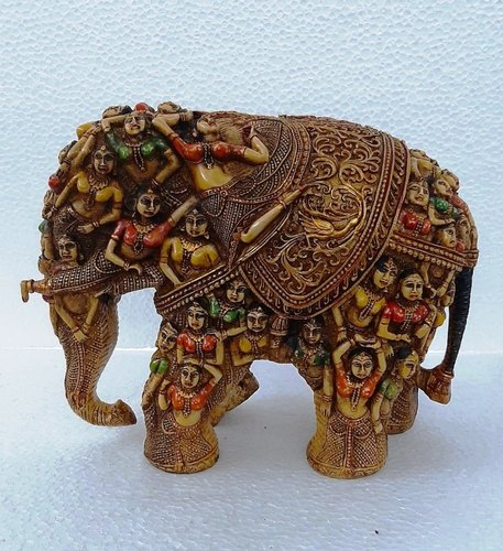 Resin Painted Lady Elephant