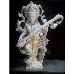 Sawaswati Mata Marble Moorti