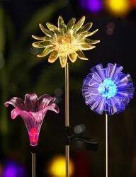 Hardoll Stainless Steel Solar Flower Garden Lighting, For Decoration