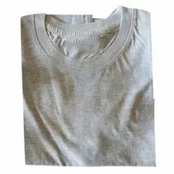 Plain Mens Round Neck Cotton T Shirt, Packaging Type: Packet