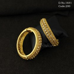 Traditional Antique Openable Bangles with LCT Stones