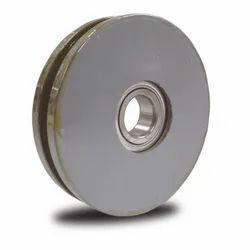 Flat Belt Iron Gate Pulley, Size: 60 Mm
