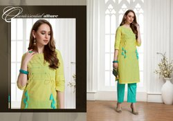 Cotton Kurti Pant Set