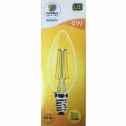 Glass 4W Wipro Garnet Classic Candle LED
