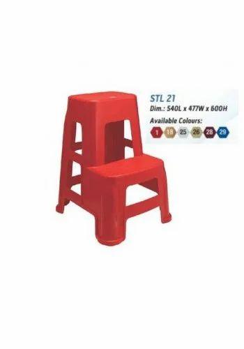 Astounding Nilkamal Stool Stl21 Bright Red Set Of 2 Stool Uwap Interior Chair Design Uwaporg