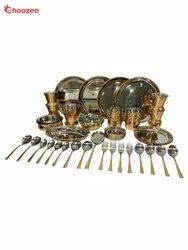 Copper / Stainless Steel Dinner Set (46 Pcs) for 4 People