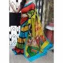 Party Wear Ladies Cotton Saree, 5.5 M (separate Blouse Piece), With Blouse Piece