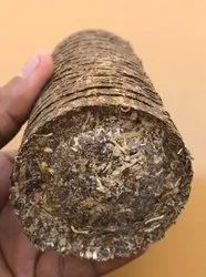 Brown Round Cylindrical White Coal, Groundnut Shell Waste