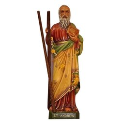 Wooden and Fiber Catholic Saint Statue
