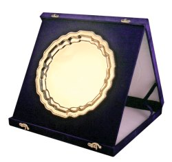 Gold Plate with Velvet Box Trophy