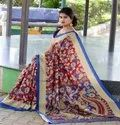 Kalamkari Print Cotton Saree