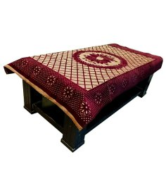 Rectangular Maroon PVC Table Cover, Size: 40x60 Inches