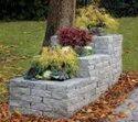 Rock Finish Sandstone Stone Garden Planter, Size: 24x36