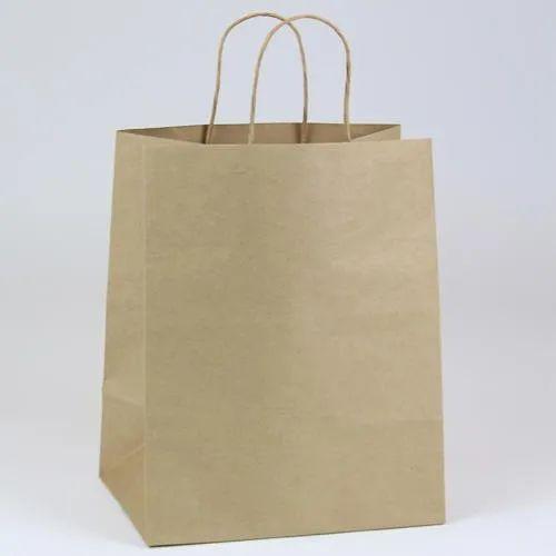Brown Plain Paper Shopping Bag