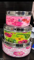 Steel Enamel Colored Spice Box