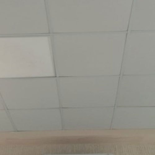 White Armstrong Fiber False Grid Ceiling, for Office, Thickness: 12 mm
