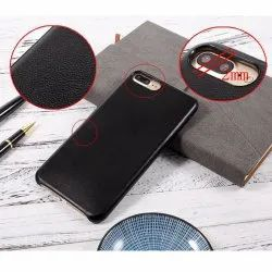 Black And Brown Apple iPhones Leather Mobile Case, Size: Iphone, For Mobile Cover