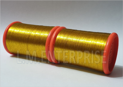 Yellow Touch Zari Thread