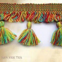 Multicolor Fringe Tassel Trim